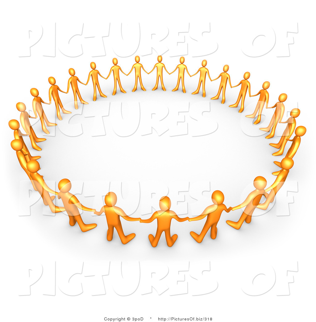 Brotherhood clipart business collaboration Of Circle of Orange by