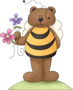 Brown Bear clipart bee @daniellemoraesfalcao by Images BeesTeddy Minus
