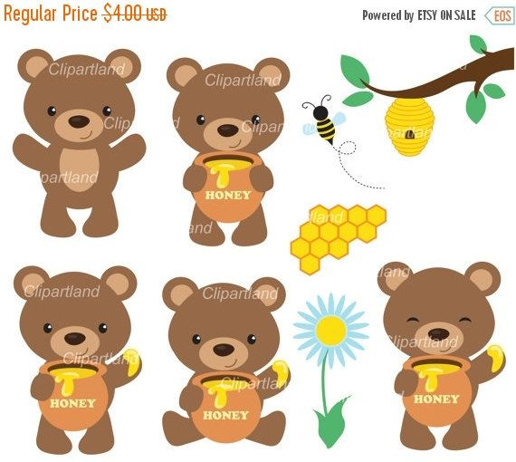 Brown Bear clipart bee Clip Pinterest bear Clip and