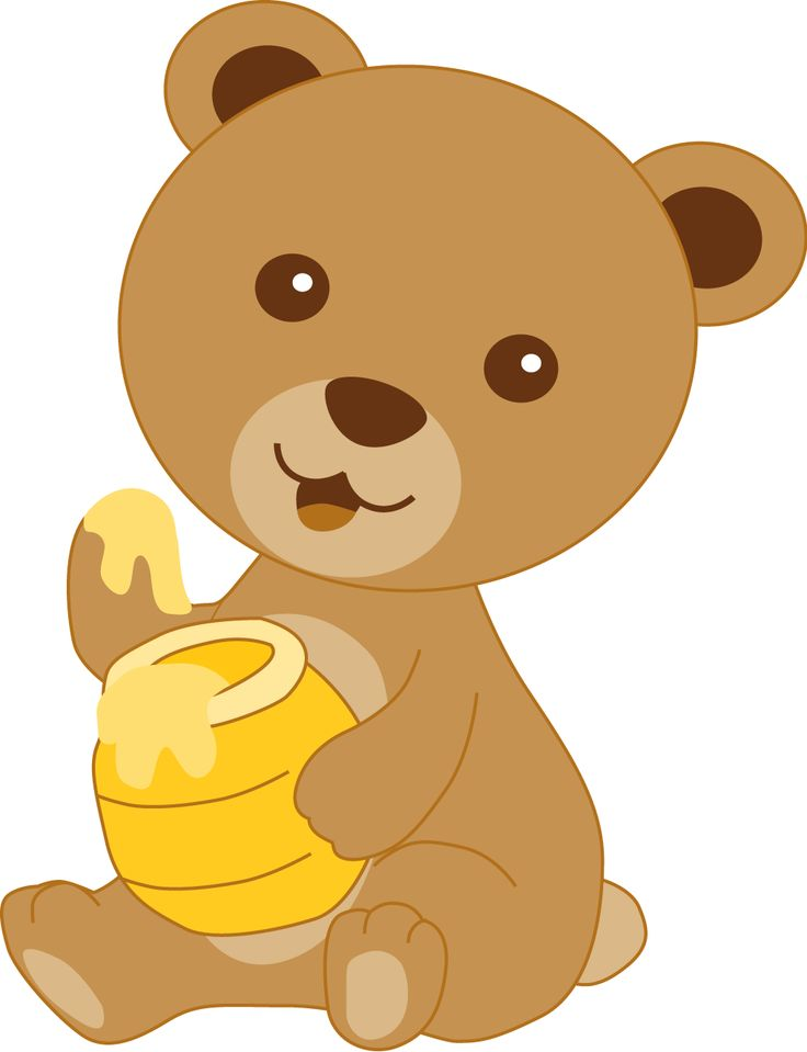 Brown Bear clipart bee BearsInfantClip BeesTeddy pot 296 Honey