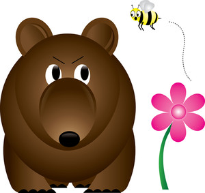 Brown Bear clipart bee  Art Pictures: Bear Illustration