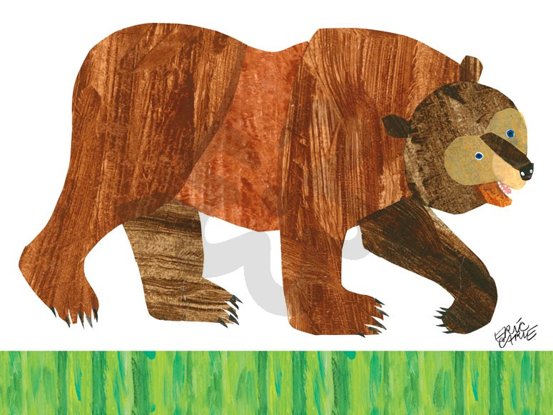 Brown Bear clipart book Bear Wall daisy Eric Oopsy