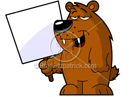 Brown Bear clipart funny bear Clipart Royalty Holding  Clipart