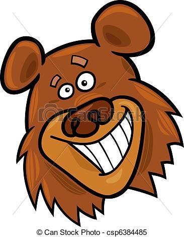 Brown Bear clipart funny bear Cartoon of bear bear of