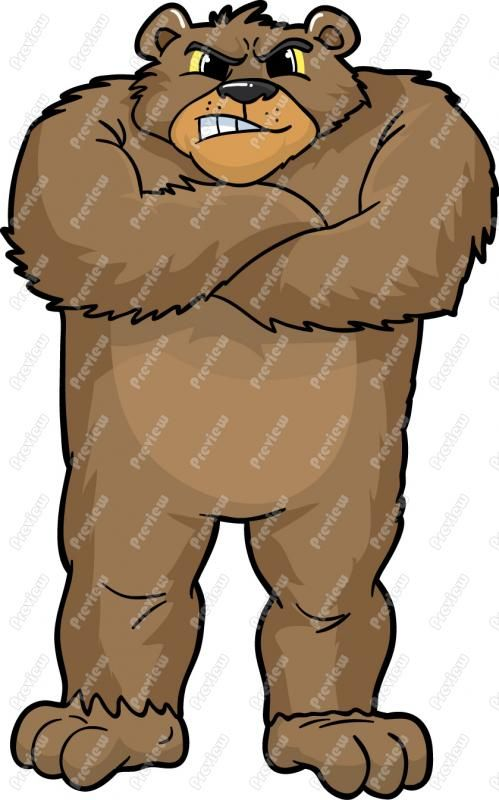 Brown Bear clipart mean Logo by Kathryn  on