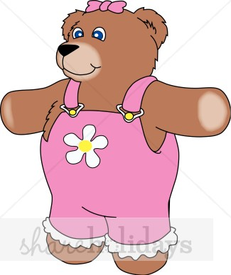 Brown Bear clipart sun bear Overalls in Christmas in Teddy