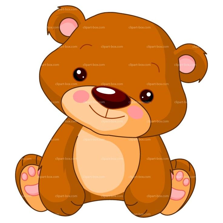 Brown Bear clipart soft toy CUTE 293 vector ours design