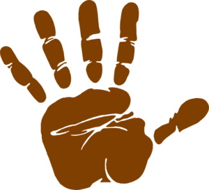 Brown clipart Print Hand Download Brown Clipart