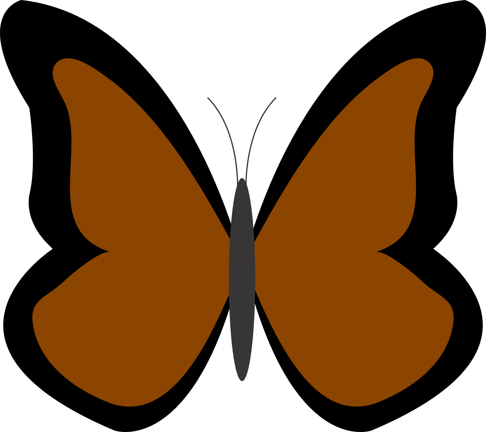 Butterfly clipart colored Brown Clipart Butterfly collection color