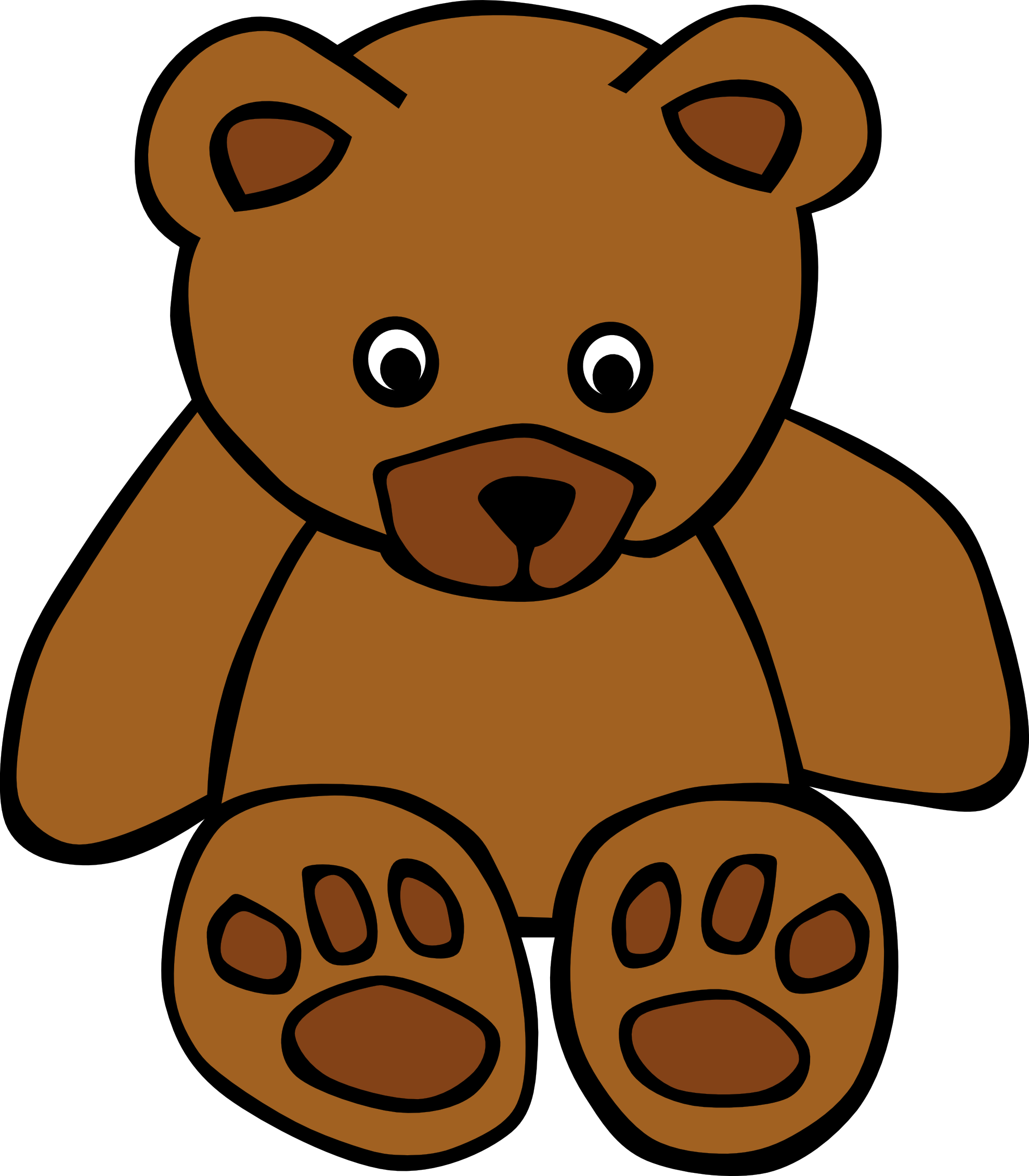 Glitch clipart beatle Clip Clip Bear Teddy Brown