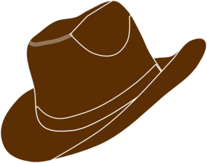Horseshoe clipart brown Clipart  Hat Free Art