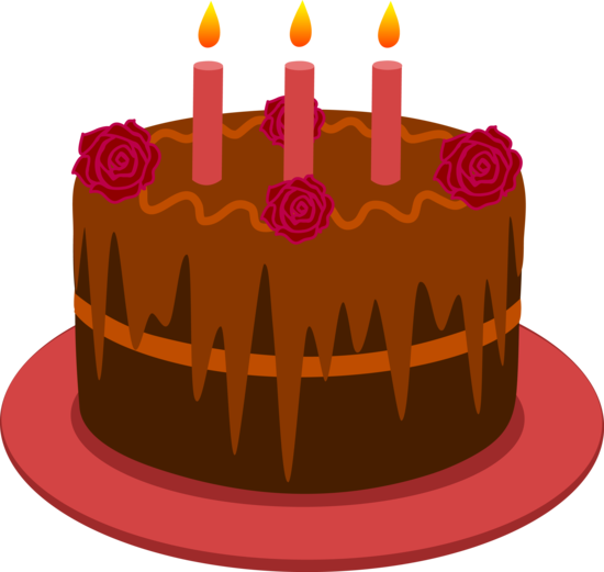 Brown clipart birthday cake With Candles Chocolate Cake Chocolate