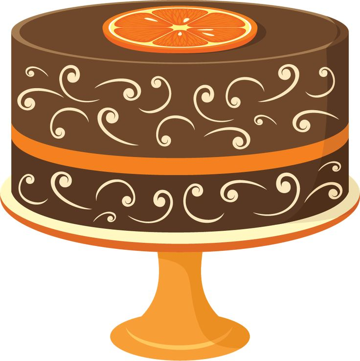 Brown clipart birthday cake Pinterest PARTY on CLIPART on