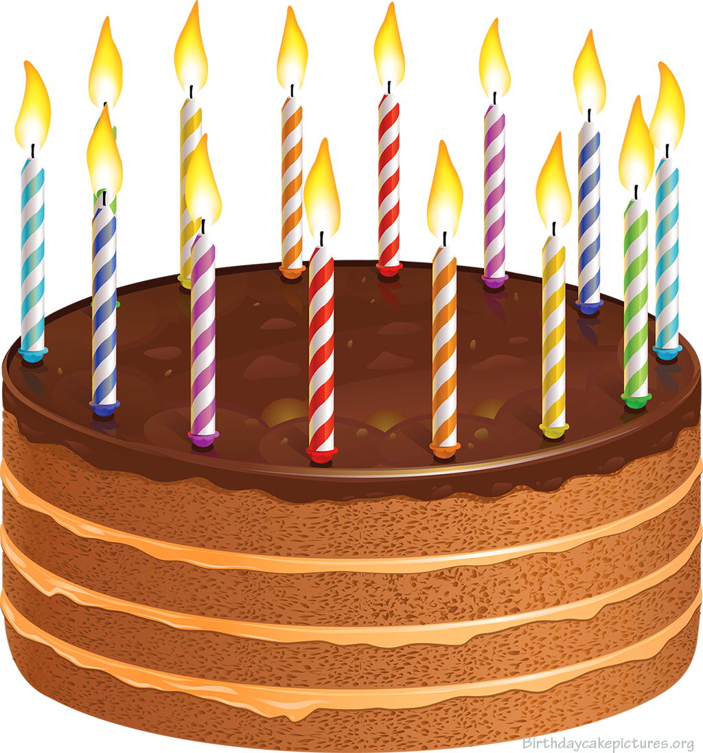 Brown clipart birthday cake Clip Birthday Candles Cake Clip