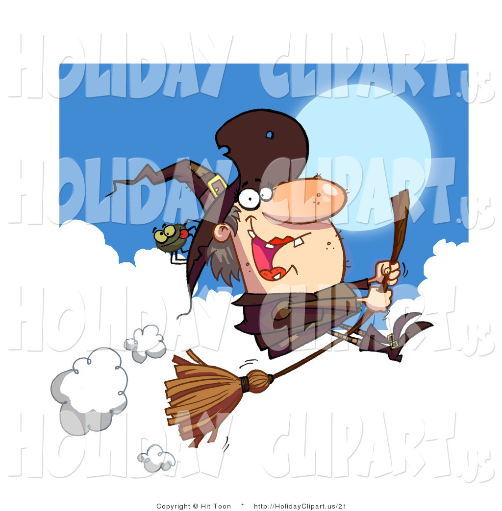 Brown clipart broom An Witch Hag with Female