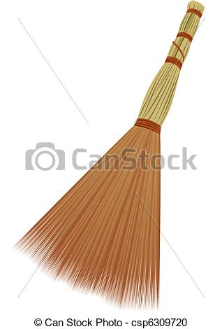 Brown clipart broom On Clipart Object of white