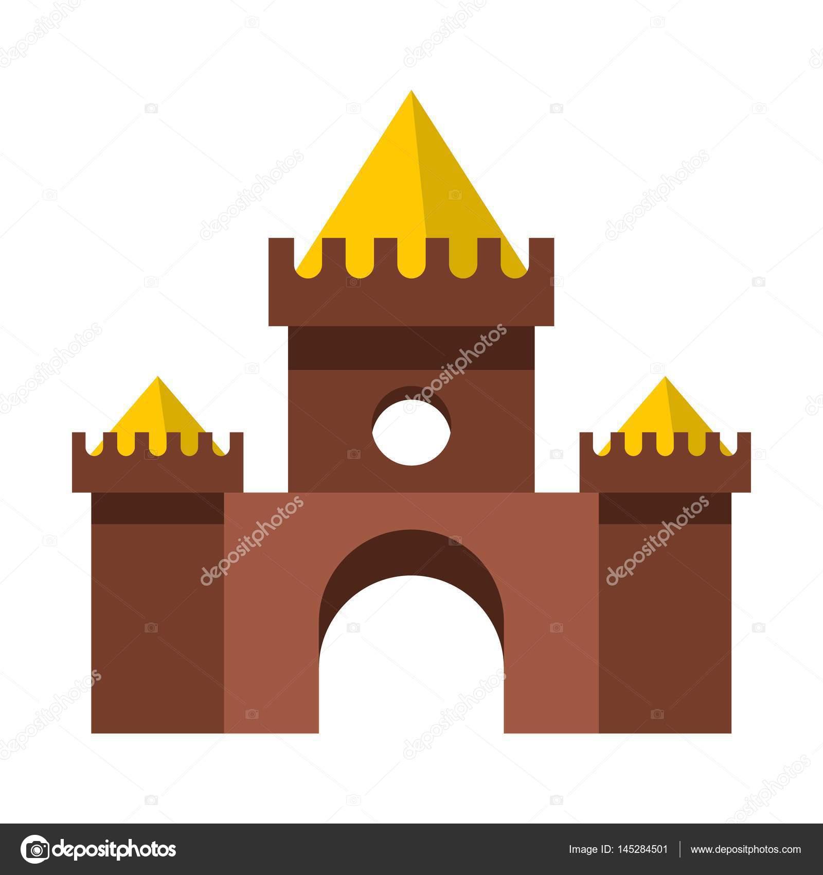 Brown clipart castle Castle vector #145284501 by Brown