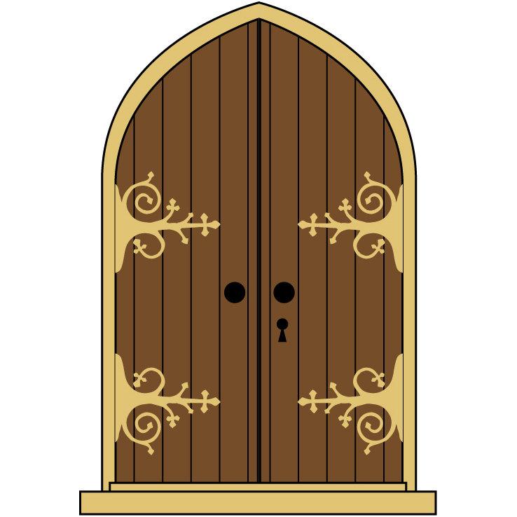 Brown clipart castle Doors Free Download  Door