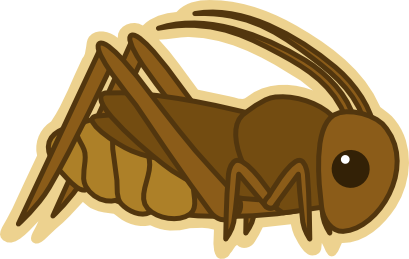 Brown clipart cricket By by on (Kawaii) DD