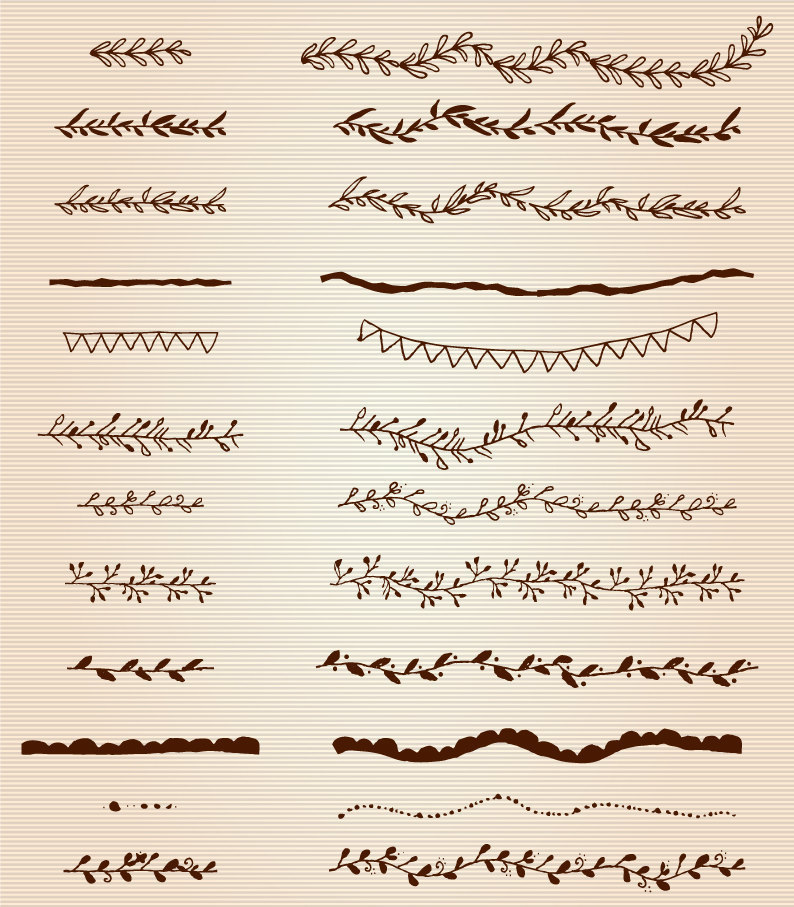 Brown clipart divider File Digital Etsy Borders Text