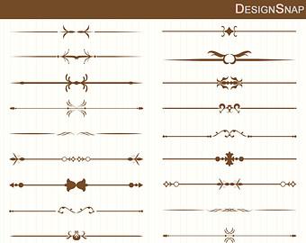 Brown clipart divider Vintage dividers Clip Art Text