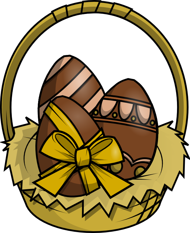 Brown clipart easter basket To Domain Clip Easter Art