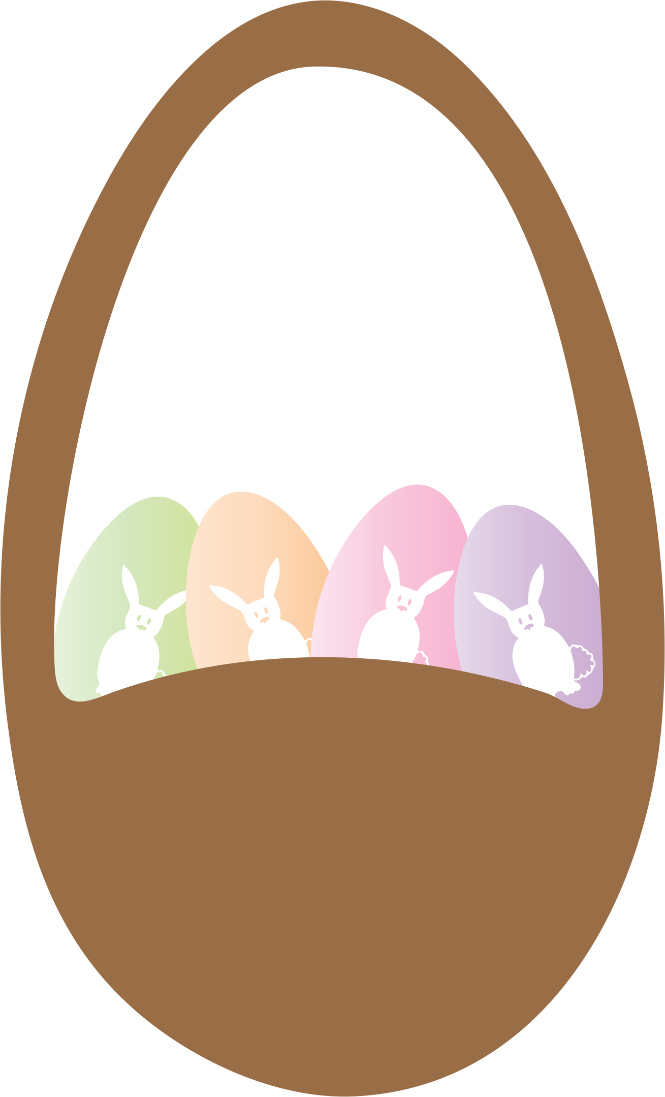 Brown clipart easter basket Basket Basket and and Eggs