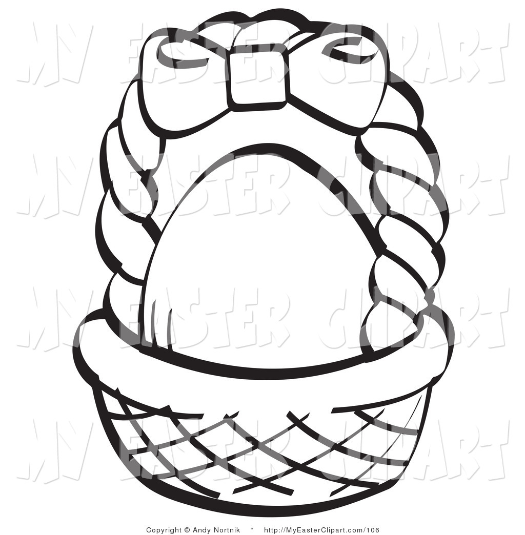 Brown clipart easter basket Page a coloring Basket Brown