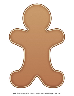 Brown clipart gingerbread man Gingerbread Page Coloring Kids Clipart