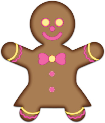 Brown clipart gingerbread man Food Art Clip Art Clip
