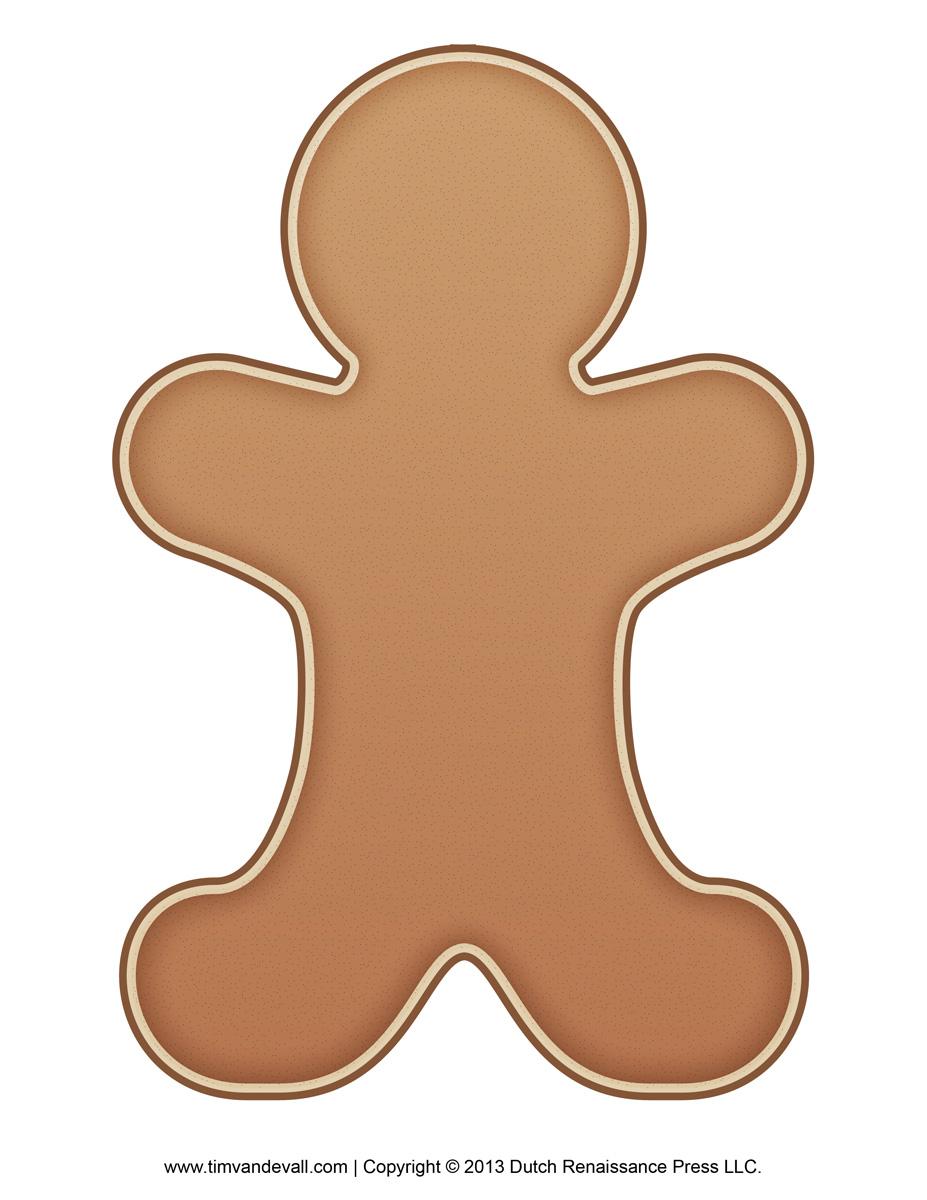 Gingerbread clipart plain Art Clip  Clip Outline