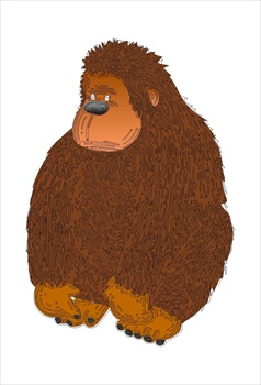 Brown clipart gorilla Free and Free Graphics Images