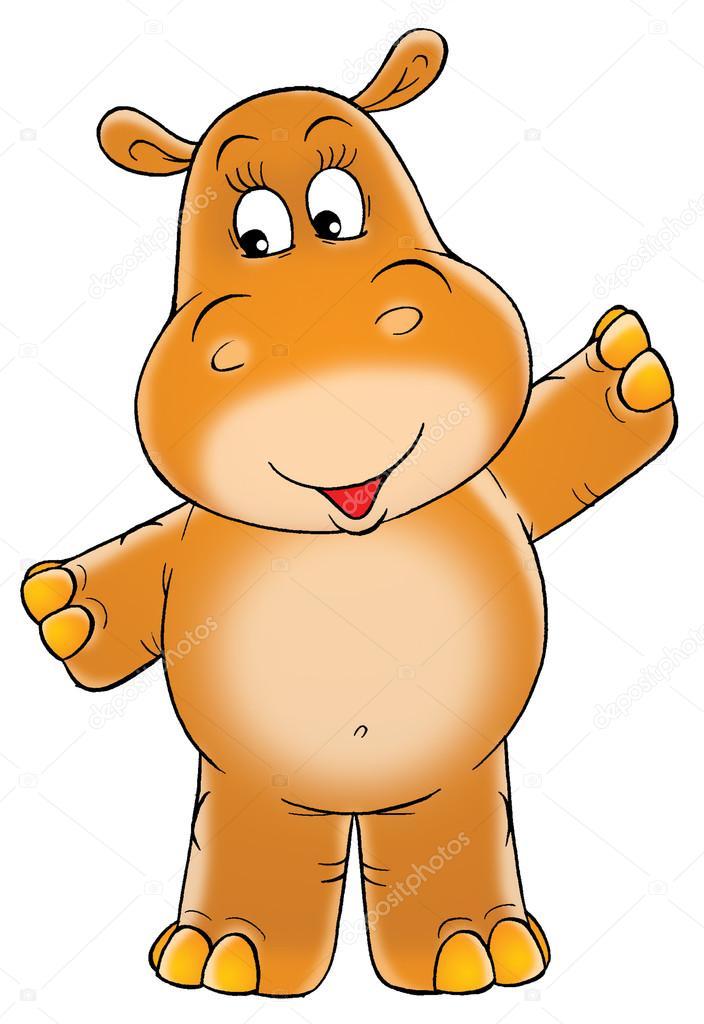 Brown clipart hippo Holding hippopotamus arms Stock ©