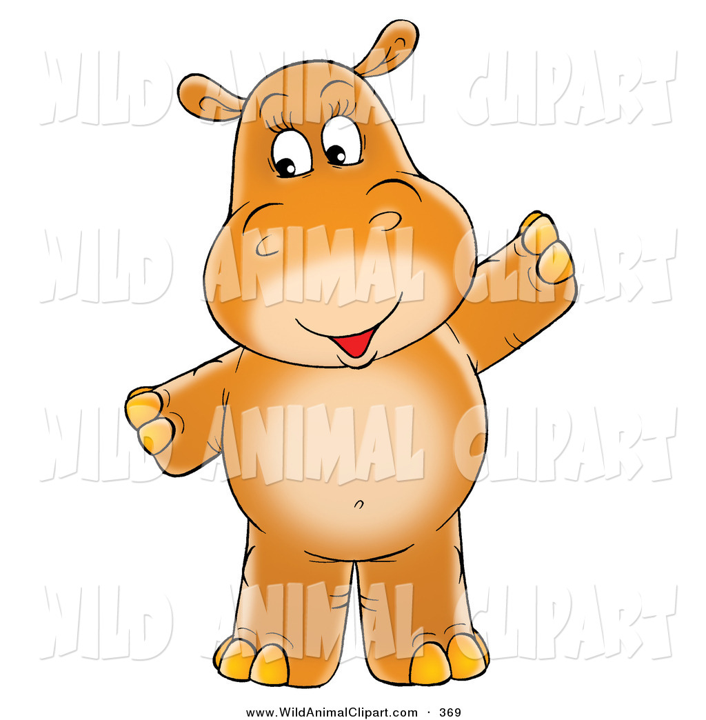 Brown clipart hippo Baby a Standing a and