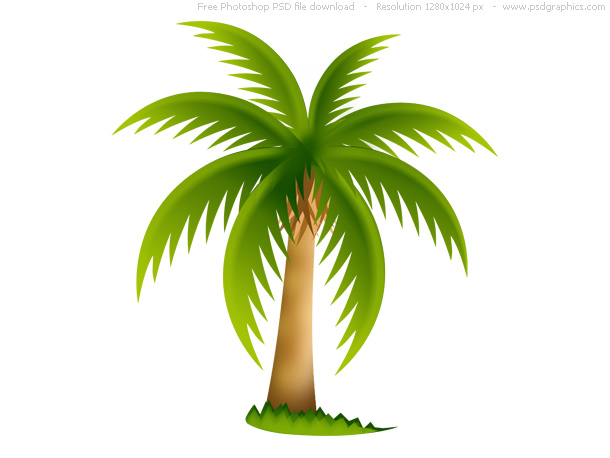 Brown clipart palm tree Palm PSDGraphics web clip download