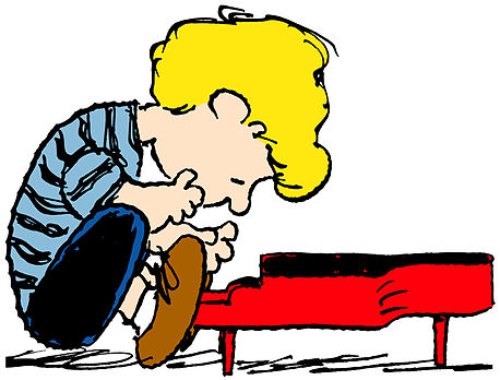 Brown clipart piano Brown Playing Clip Charlie Images