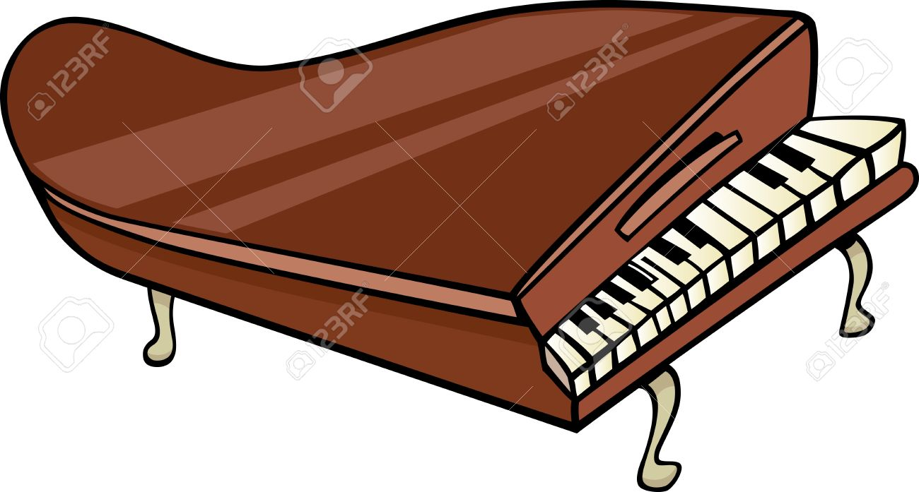 Brown clipart piano Piano Brown art Clipart Piano