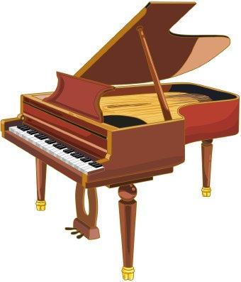 Brown clipart piano Clip Piano Piano schliferaward art
