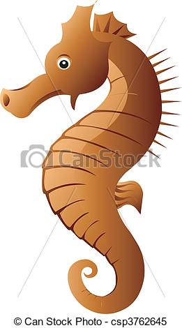 Brown clipart seahorse Of  coloured Seahorse Illustration