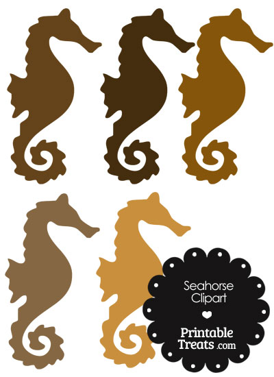 Brown clipart seahorse Printable Shades Treats of in
