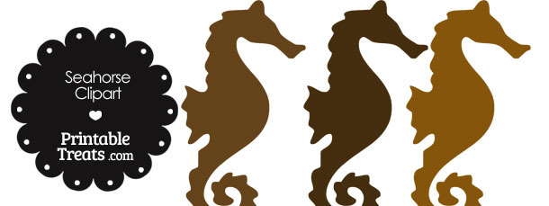 Brown clipart seahorse — of Brown of Treats