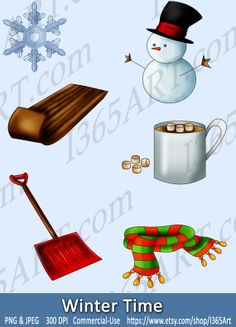 Brown clipart sled & Scarf hot Chic Invitations