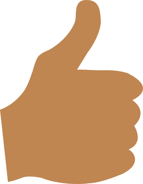 Brown clipart thumbs up  at vector art online