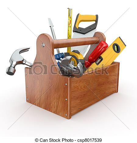 Brown clipart toolbox With Wood tools Wood Skrewdriver
