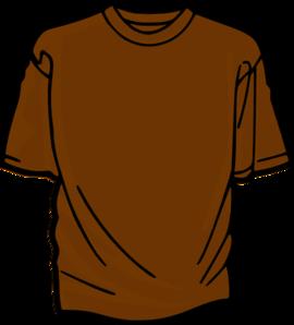 Brown clipart tshirt Clker Clip at Clip clip