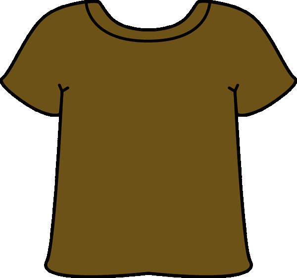 Brown clipart tshirt Images Shirt T Art Clip