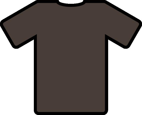 Brown clipart tshirt Com Art Clker as: art
