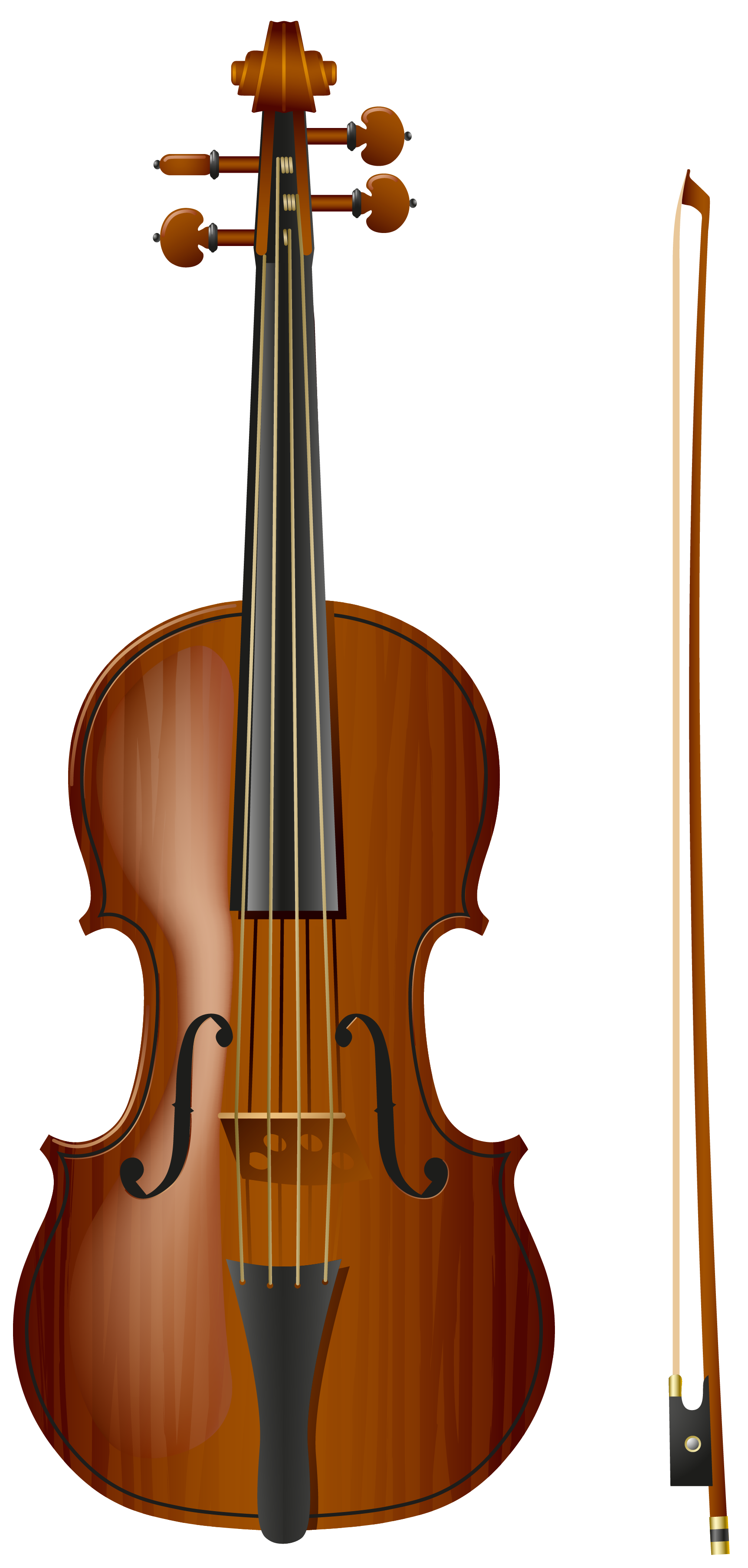 Brown clipart violin Violin Picture Yopriceville full View