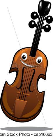 Brown clipart violin Wooden wooden csp18663518 Clip brown
