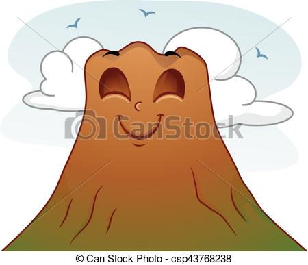 Brown clipart volcano A Volcano Vectors Peaceful